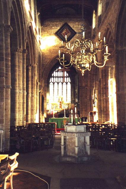 Interior of Holy Trinity, Rothwell, Northants.