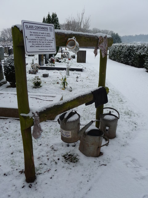 Tiverton : Tiverton Cemetery, Watering Cans