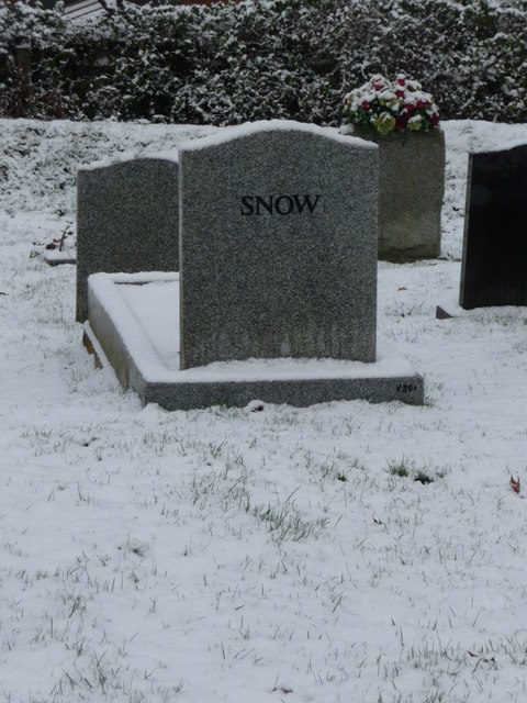 Tiverton : Tiverton Cemetery, Snow on Snow