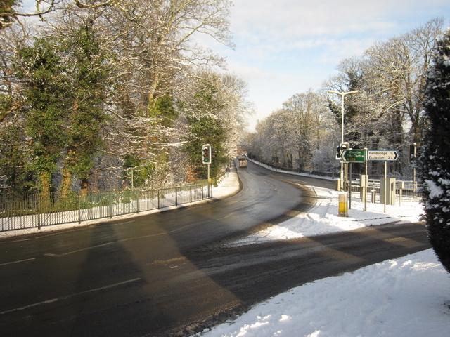 View towards the Grosvenor Bridge