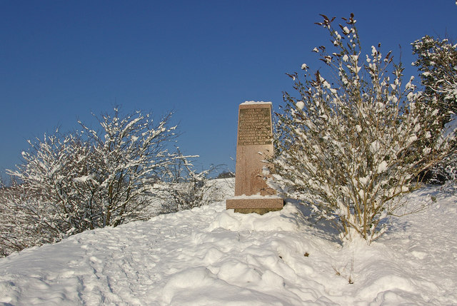 Simpson Memorial in snow