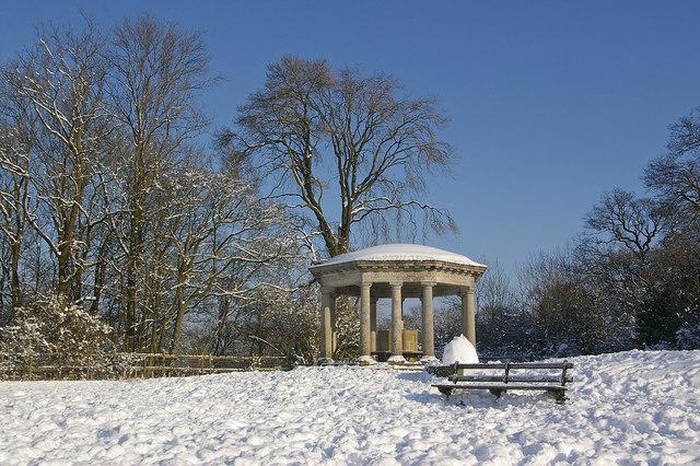Inglis Memorial in snow