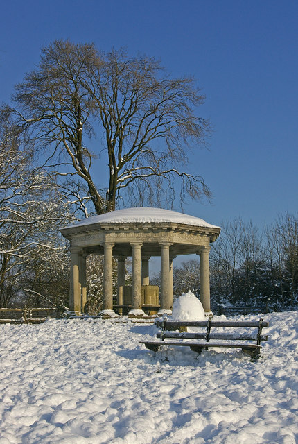 Inglis Memorial in snow