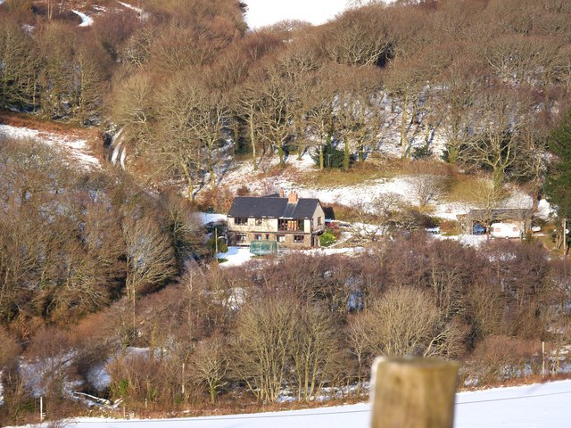 West Down Hill winds past a property name Butterhills