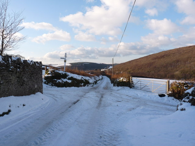 A cross road on the route from Gypsy Corner to Heddon Mill