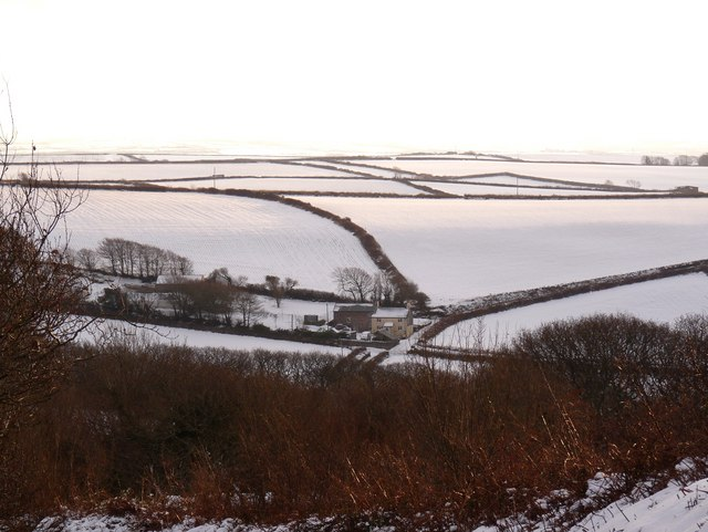 Winsham Down House as seen from West Down Hill