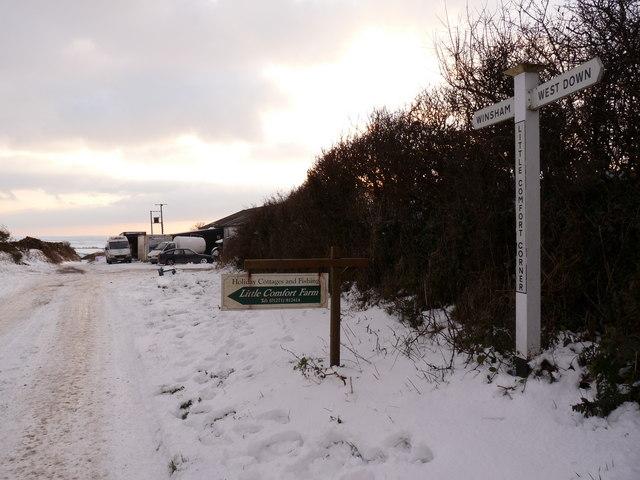 Little Comfort Corner facing West Hill Farm
