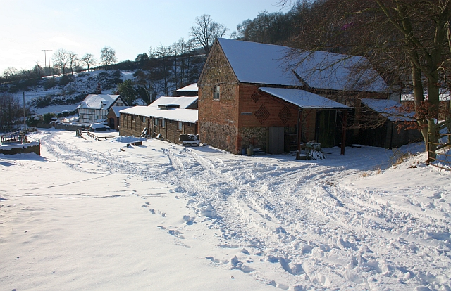 Underhills Farm in the snow