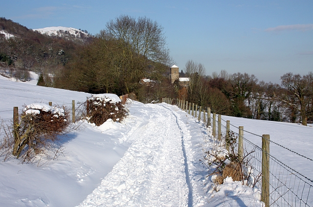 Lane to Little Malvern in the snow