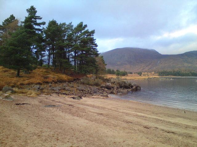 Beautiful bay by Loch Ericht