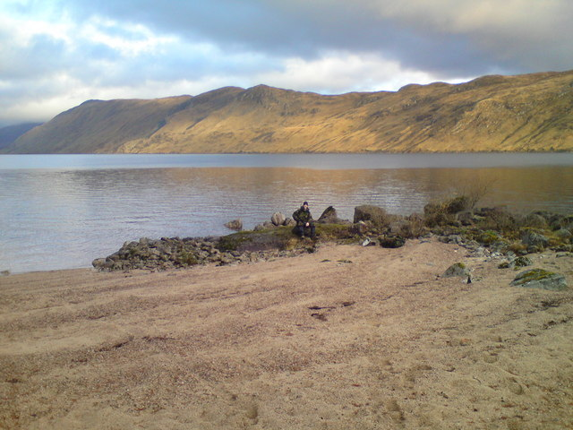 Beautiful bay by Loch Ericht 2