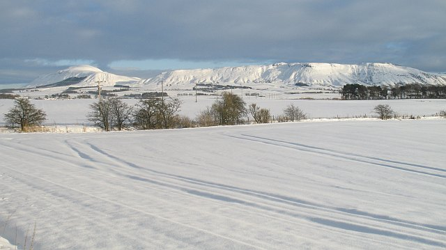 Snow covered arable land, Milnathort