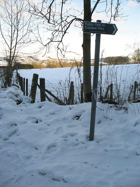 Path signpost, Cullaloe Hills