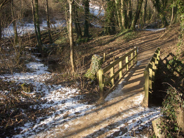 Footbridge by Candleston Castle