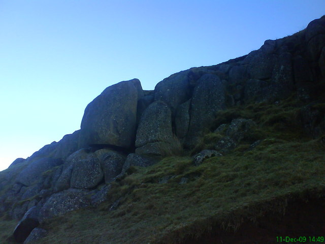 Rocky outcrop in Cant hills