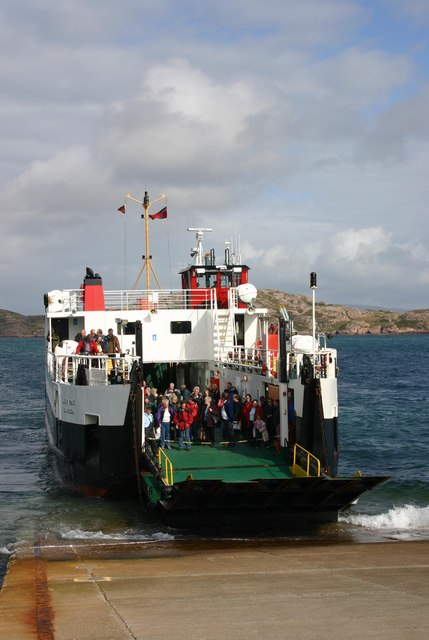 Mull ferry arrives at Iona