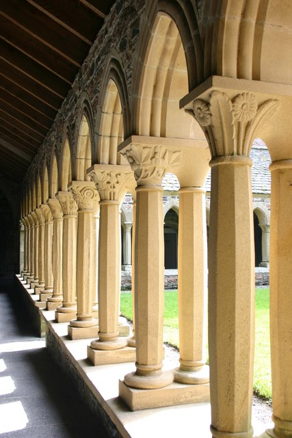 The cloisters in the Abbey, Iona