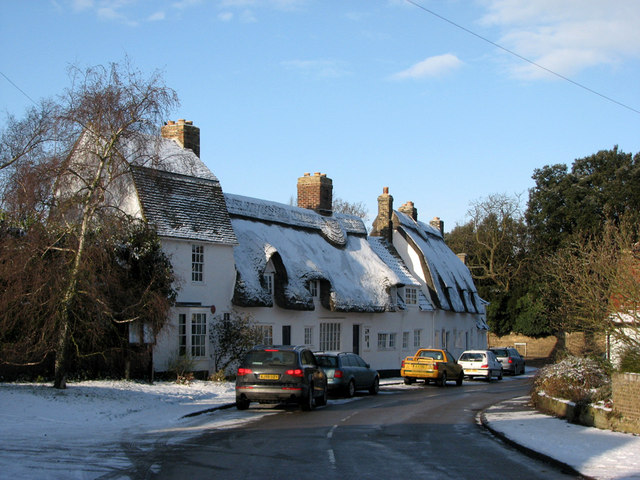 Grantchester in the snow