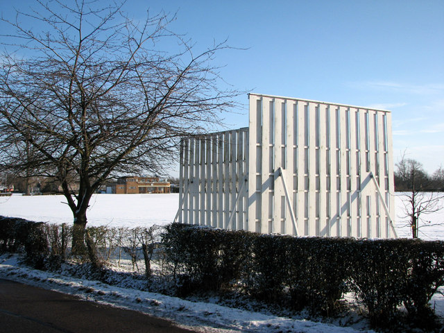 Wintering sightscreens at Pembroke College Sports Ground
