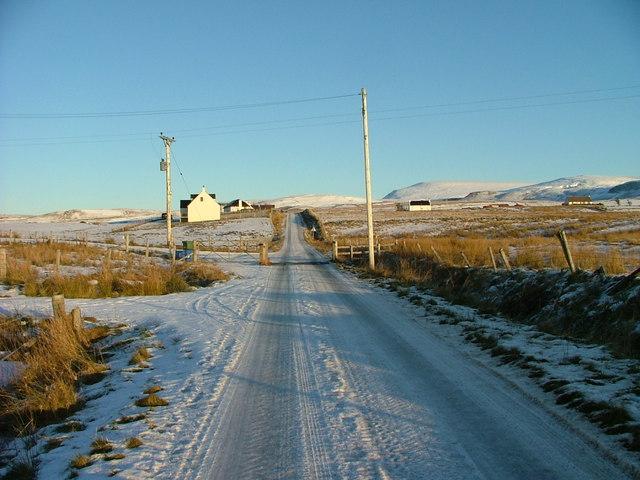 Minor road at Kilvaxter