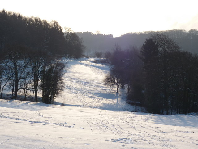 Bakewell Golf Course in the snow