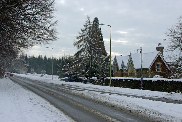 Yew Tree Cottage in the snow