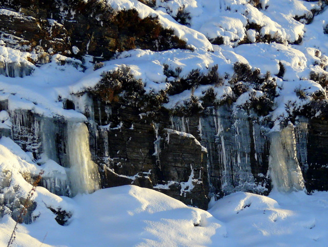 Icefall by the A835