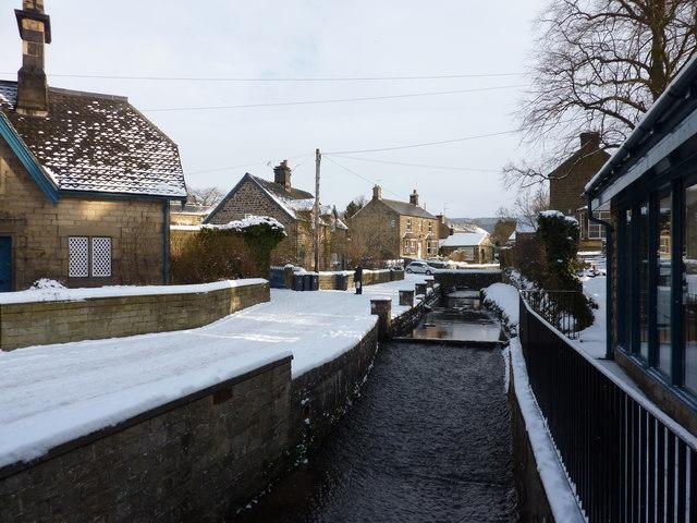 Beeley Brook flows through Beeley