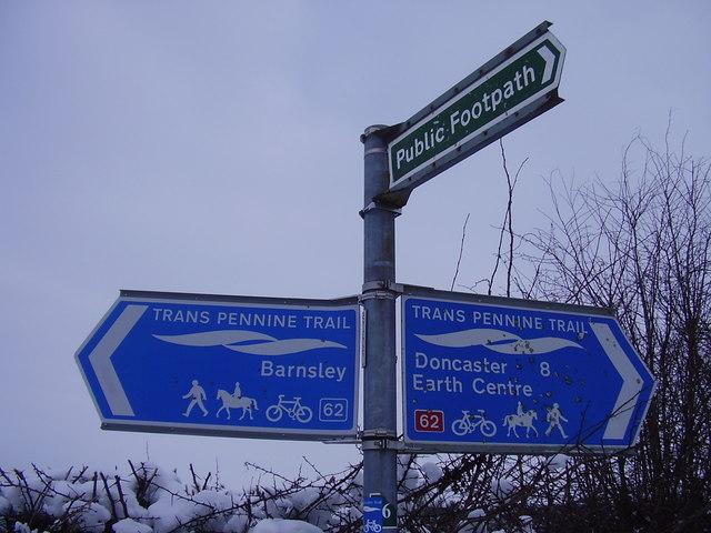 Trans Pennine trail sign