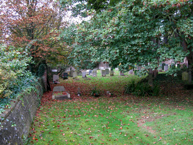 Graveyard at western end of St Peter and St Paul's, Sutton