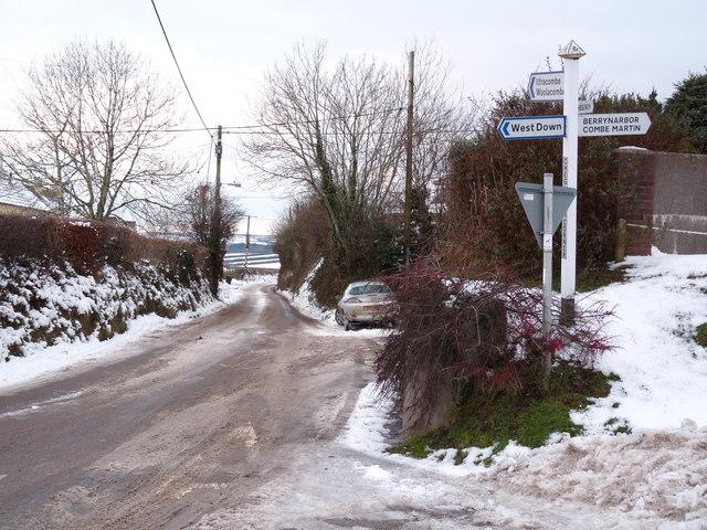 Cheglinch Corner, West Down