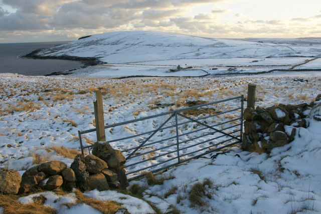 Hagdale and the Keen of Hamar in the snow