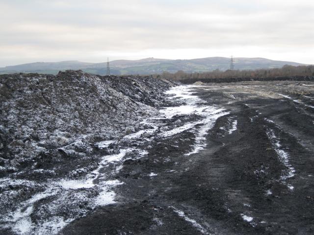 Frozen spoil, Newbridge ball clay quarry