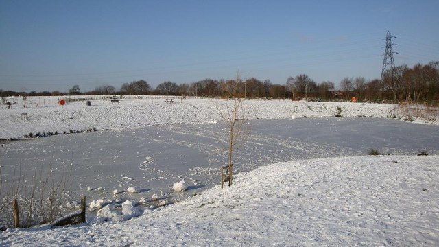 Pond at Dowd's Farm Park in January 2010