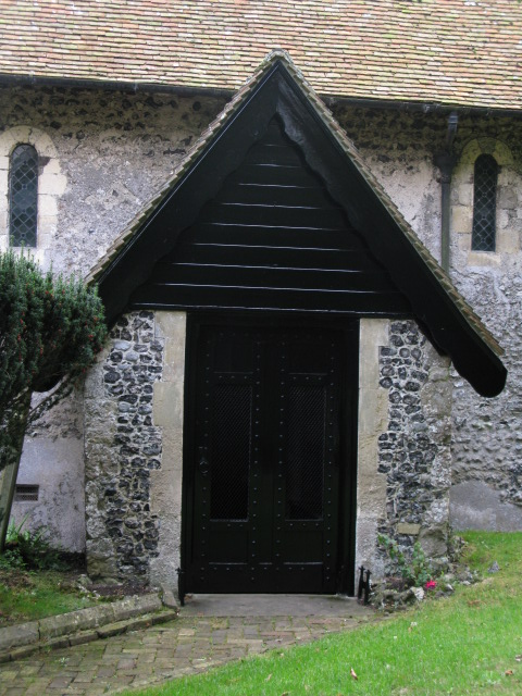 Porch of St Peter and St Paul's church, Sutton