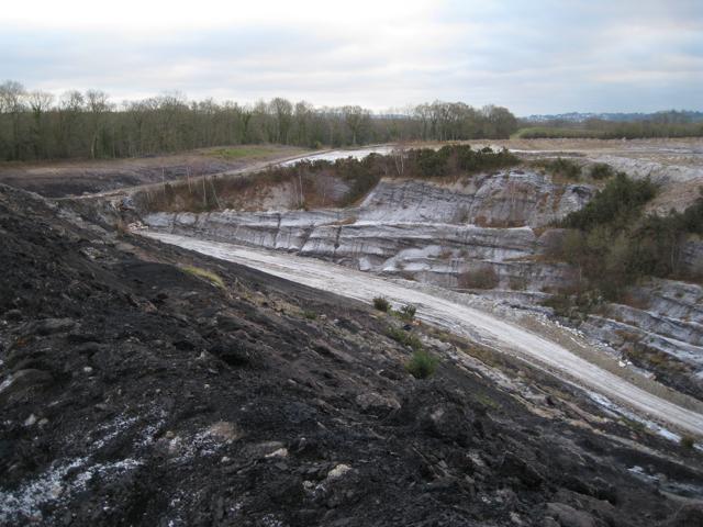 Track into Newbridge ball clay quarry