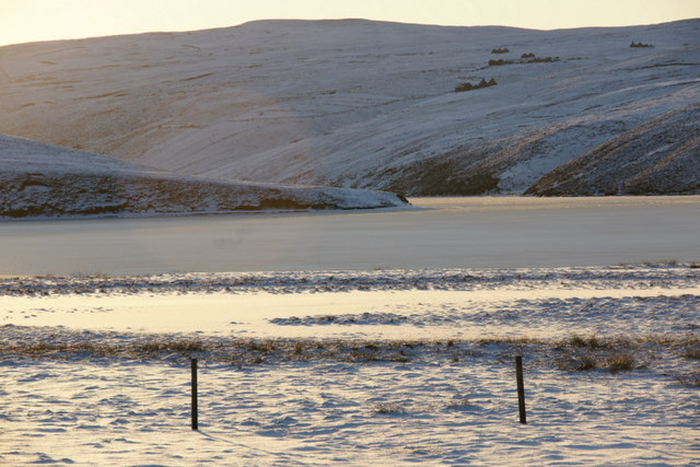 Frozen Loch of Cliff at Burrafirth