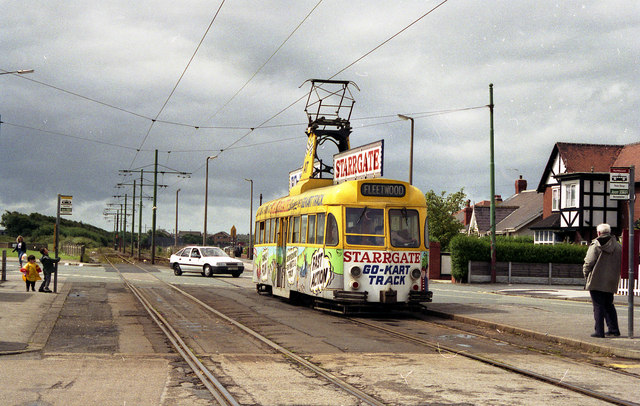 Tram at Broadwater