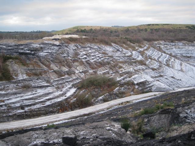 Track into Newbridge ball clay quarry (2)