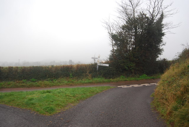 Road junction south of Capton Cross