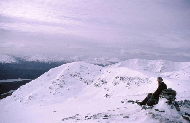 Summit cairn on Meall Coire Choille-rais