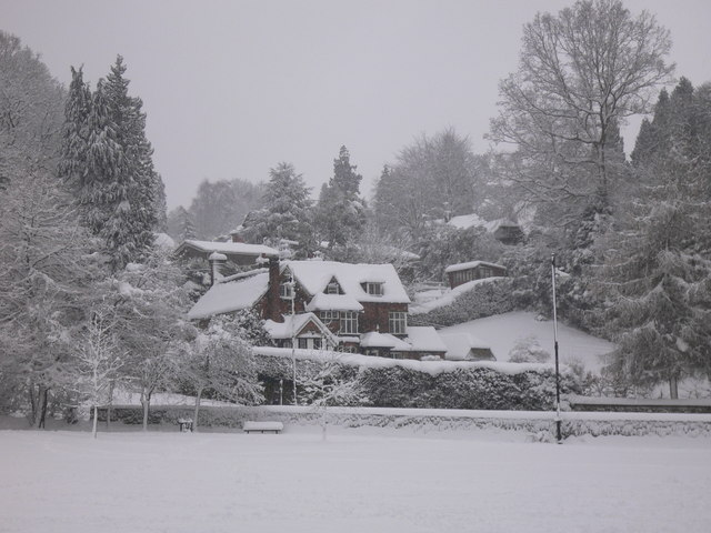 View across park in Haslemere
