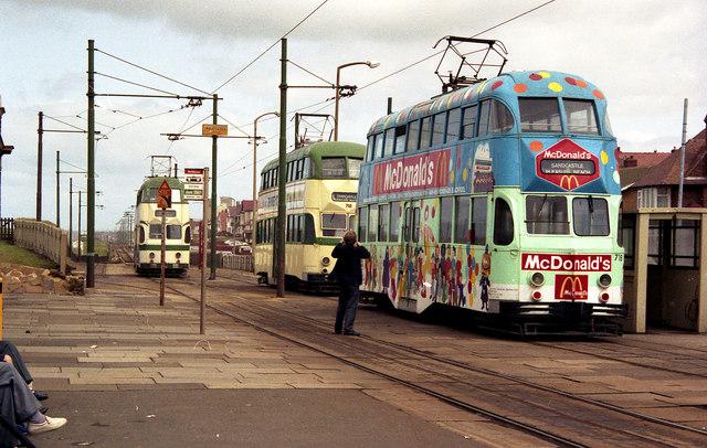Trams at Bispham
