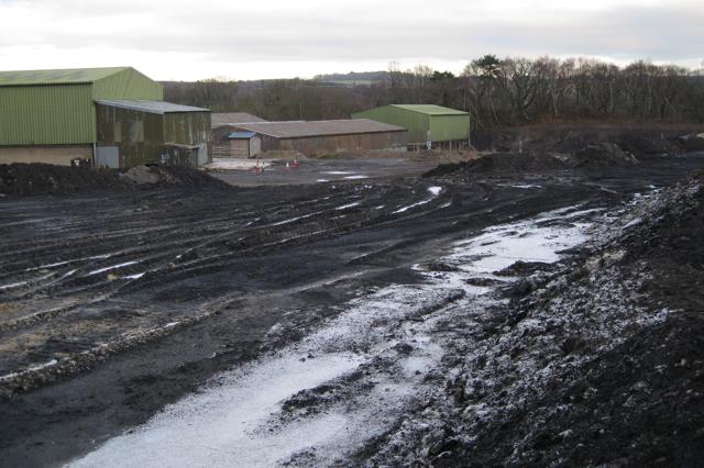 Part of clay works, Newbridge ball clay quarry