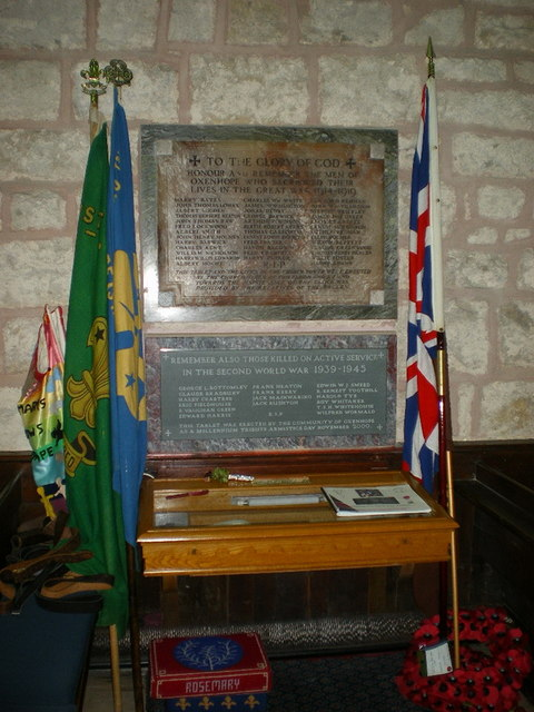 St Mary the Virgin, Oxenhope, War Memorial