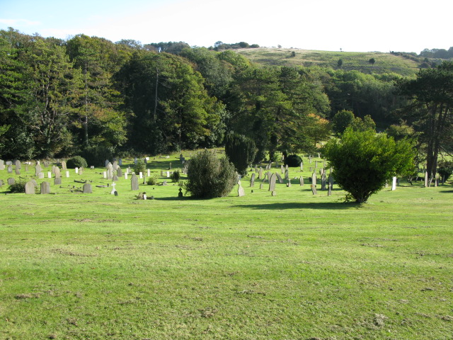 Large cemetery near Buckland
