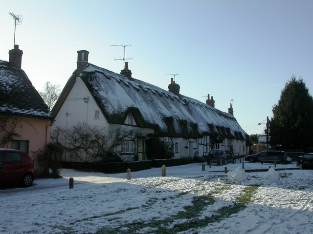 Downton, thatched cottages