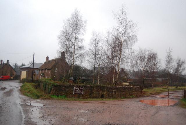 Entrance to Capton Farm & Quarry