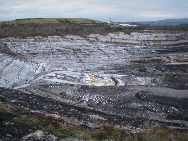 South side of Newbridge ball clay quarry