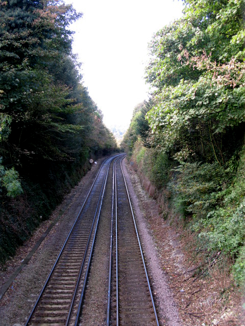Looking SW along the Dover to Ramsgate railway line